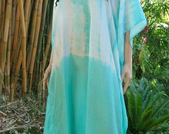Handdyed Silk Kaftan , Cover up, Summer Dress, Silkz design