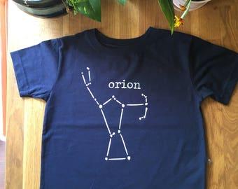 Astronomy kids tee shirt - t-shirt - stars - orion - science kids shirt - toddler - baby - star gazing - scientist - constellation
