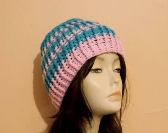 Sale - Crochet Ribbed Hat, Crocheted Beanie Hat, Ribbed Beanie Hat, Crochet, Skullcap Beanie, Crochet Boho Hat. FREE UK DELIVERY