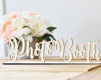 Wooden Photobooth sign -wedding decor-freestanding sign