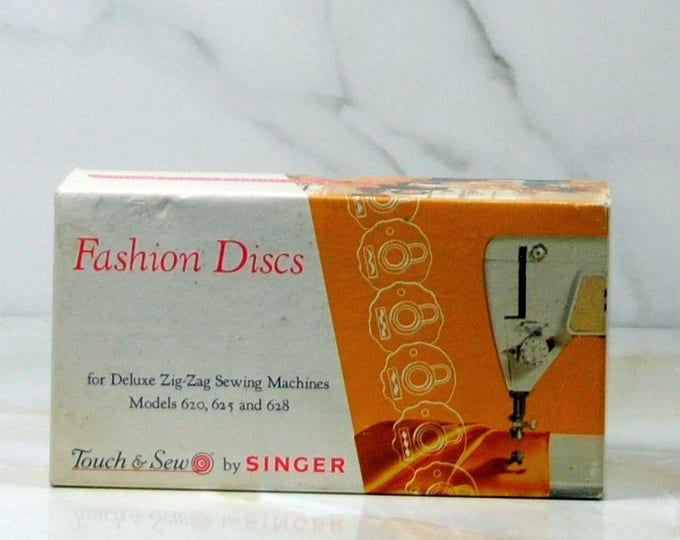 Vintage Singer Fashion Discs, Singer Sewing, Deluxe, Zig-Zag, Sewing Machines, Models, 620, 625, 628, 12 Discs, Touch & Sew, Part No, 21976