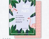 "Flamingo Party Invitation Printable ""Flamingle"""