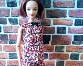 Vintage Print Floral Shorts Set for Barbie or similar fashion doll