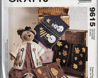 Bear With Four Creative Jackets / Original McCall's Crafts Uncut Sewing Pattern 9615