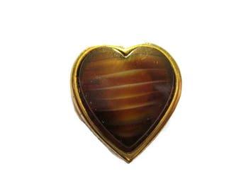 Vintage Trifari Gold Tone Heart Pin
