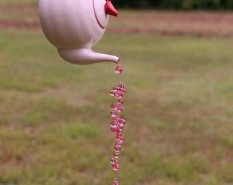 Raspberry Zinger Teapot Sun Catcher