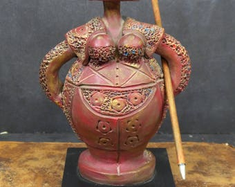 Torero Matador Terracotta Statue Sculpture in Botero Style . Bullfighter figurine. Matador Figures. Statuette