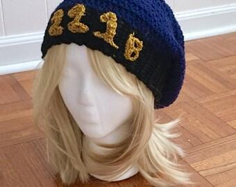 "READY TO SHIP Sherlock Inspired ""221B"" Slouchy Hat - Women/Teens - Cosplay"