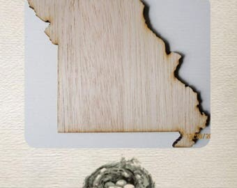 Missouri State Wood Cut Out - Laser Cut