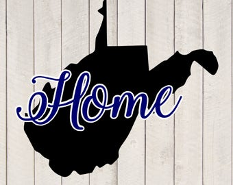 West Virginia Home  svg jpeg png vector design