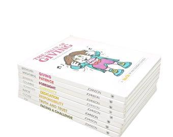 VALUETALES Childrens Book Collection, Tall book set, Old Books, Kids Book Set, Nursery Decor, Biographies, Bookshelf Kid books book stack