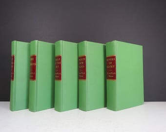 Autographed Books Set // Vintage Set of Five F. van Wyck Mason Novels Signed Inscribed Books 1940's 1950's Some First Editions Decorative