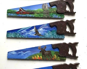 Miniature Hand Saw Magnet Mountain Scenery All 5 for One Price