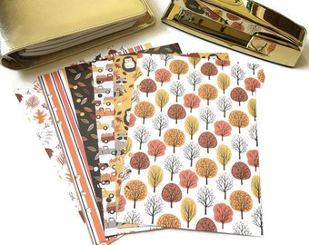 Planner Dividers // A5 or Personal Planner Dividers // A5 Planner Dividers // Personal Planner Dividers // Fall Planner Dividers