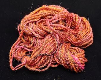 Handspun 2-Ply Art Yarn- Coucher du Soleil