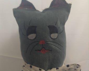 Patchwork Denim Cat
