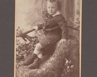 Australian CDV of a Beautifully Dressed Little Boy