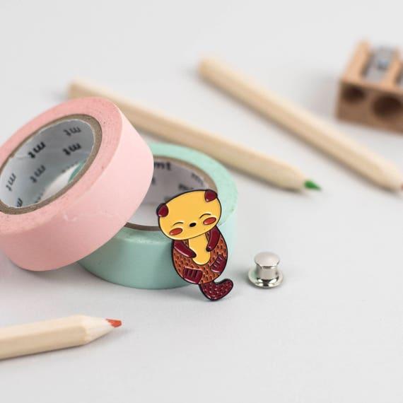 Otter Enamel Pin