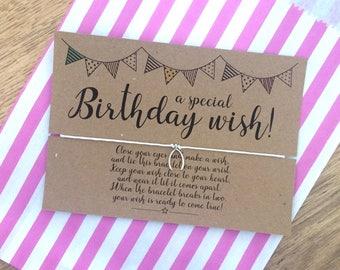 A Special Birthday Wish Bracelet, Birthday Gift, Friendship Bracelet, Wish Bracelet.
