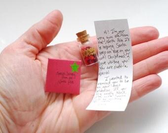 Elf Dust & Letter from Santa's Elf gift set