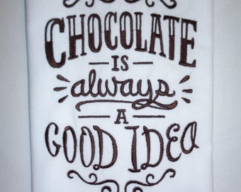 Chocolate Quote Etsy