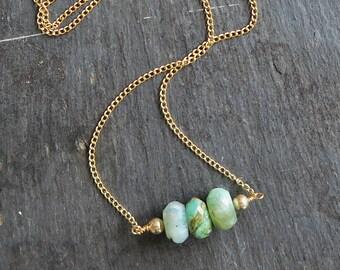 Peruvian Opal Necklace   Peruvian Opal Jewelry   Opal beaded necklace   Opal Jewelry   October birthstone jewelry   Opal Jewellery   Gift
