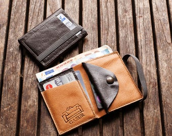 Wallet, PERSONALIZED Men's Leather Wallet, Groomsmen Gift, Mens Wallet, Gifts for Men