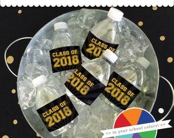 Graduation Custom Waterproof Drink Labels - 24 Vinyl Peel & Stick Labels