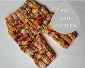 PDF Knit Pattern #0077 The Ceylon Knit Capri Pants Newborn Tutorial Instruction Knit Pattern Intermediate Romper Newborn Prop Knit Dk Yarn