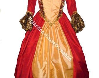 Dress marquise, angelic, 18th century custom.