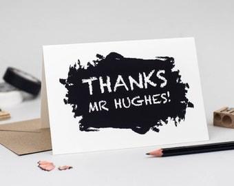 Thank You Teacher Card - teacher card - thank you teacher - personalised thank you card