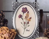 "Ennui - framed needle Painting - 6"" Embroidery  art - wall hanging - hand embroidery"