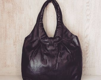 Leather handbag // Boho slouch purse // Soft genuine leather // Gifts for her // Brown // Black // Natural // Unique // Nicole