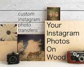 Personalized Mothers Day Gift from Son Photo Gifts for Him Boyfriend Mom Dad Photo Transfer to Wood Customized Instagram Custom Wood Print