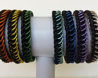 Half Persian 4-in-1 stretchy chainmail bracelet