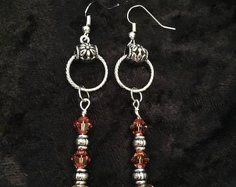 Amber AB Swarovski Earrings