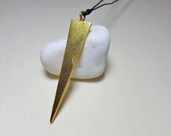 Boyfriend Birthday Gift, Men's Necklace Gold, Spike Necklace, Gift Ideas for Boyfriend, Boyfriend Gift Ideas, Spike Pendant, Mens Necklace