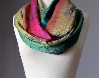 Ombre Infinity Scarf / floral scarf / women scarves / Ombre , spring scarf