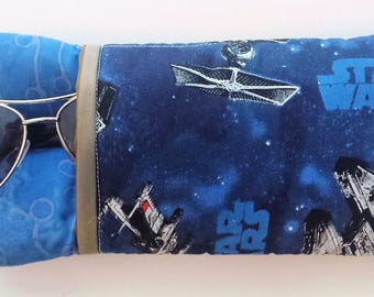 Star Wars Triple Sunglass Case, Sunglasses, Eyewear, Eyeglass Case, Blue  Accessory Case