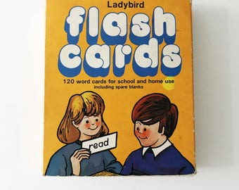 REDUCED Vintage 1970s Ladybird Reading Flash Cards, Set One
