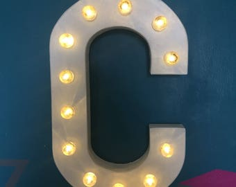 "16"" Marquee Letter Battery Operated with Globes"