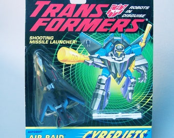Vintage G2 Transformers Air Raid MOC Mint on Card Never Opened - Cyberjets