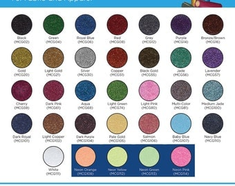 Glitter HTV Craft and Tshirt Glitter Heat Transfer Vinyl Multiple Colors and Sizes Available
