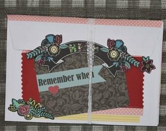 """Mini book """"Remember When..."""""""