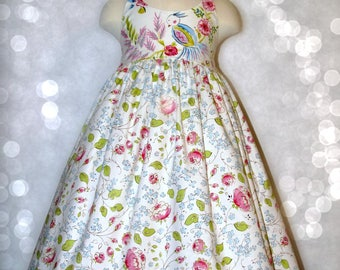 Girls dress size 6 ready to ship spring summer sundress MADE in the USA