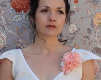fairy strapless white linen
