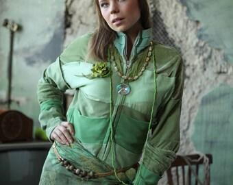 A unique summer coat-dress with a light female boho