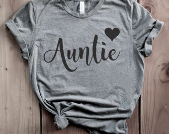 Auntie Shirt, Auntie T-Shirt, Auntie Tshirt, Aunt Shirt, Aunt T-shirt, Aunt Tshirt Gift for Aunt New Aunt Gift aunt squad aunt vibes t shirt