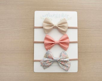bow headbands set- newborn headbands - baby bow - baby girl - baby girl headbands - infant headband - baby headband - headbands