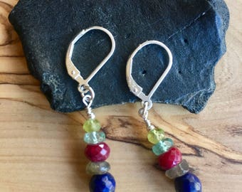 Gemstone Medley Sundance Style Earrings